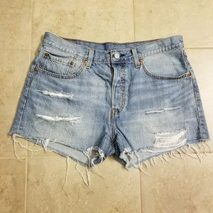 Levi's Vintage 501 Cutoff Distressed Jean Shorts